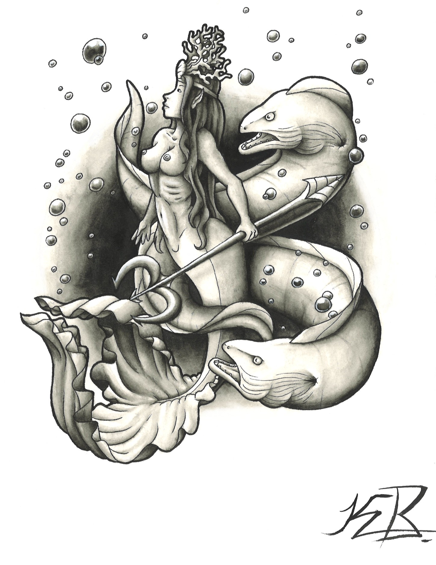 I drew this back during my tattoo apprenticeship.